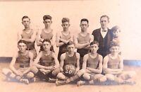 .RARE 1920 DANVILLE HIGH SCHOOL, KENTUCKY SENIOR BASKETBALL OFFICIAL TEAM PHOTO.