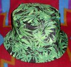 Kayhoma  Reversible Bucket Hat Fishing Hiking Biking Summer Fall Color Green