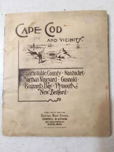 Rare Cape Cod Fold Out Map Book 1892 Great Ads Real Estate
