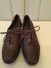 MARKS AND SPENCER FOOTGLOVE SOFT BROWN LEATHER SHOES SIZE 38/5 NEW