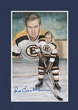 Bill Quackenbush signed Boston Bruins Legends of Hockey Hall of Fame Postcard