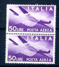 """ITALIA REP. - PA - 1947 - Serie """"Democratica"""" - Filigr. Ruota  - 50 L. - X105"""