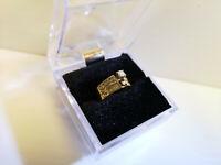 (N44514) 14K Gold Wedding Set w/ Diamonds