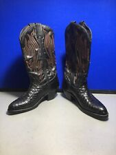 Harley Davidson Black Leather Pull On  Motorcycle Boots Cowgirl Boots 6 M
