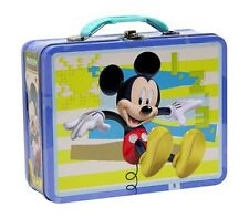 Disney Mickey Mouse EMBOSSED LUNCH BOX BLUE SNACK BAG TOTE CARRY STORAGE CASE 3+