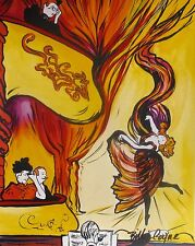"BILLIE COYNE ""THE OPERA"" Hand Signed Art Giclee on Canvas Toulouse-Lautrec"