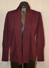Kersh Women's Shawl Collar Cardigan Sweater-BURGUNDY-SMALL-NWT