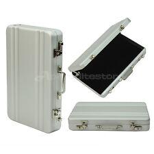 Case Porta Biglietti da Visita in Lega Alluminio 98x63x16mm Argento Ufficio