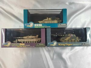 LOT OF 3 DRAGON ARMOR TANKS #60015 #60018 #60048 1:72 SCALE EXCELLENT MIB NR!