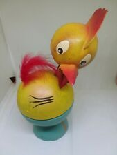 Vintage Germany Paper Mache Easter Candy Container Rooster Nodder Bobble Cute