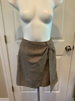 rag & bone Tan Houndstooth Knotted Front Mini Skirt Size 2