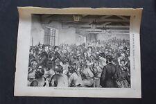 1871 Stich 1 / Berlin Gare Ostbahnhof Français Prisonniers de Guerre
