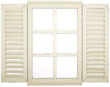 Esschert Design Spiegel Fenster mit Fensterläden und Sprossen WD35