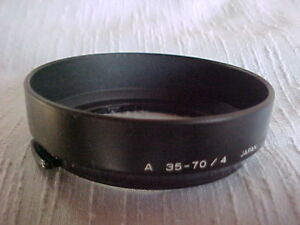 Minolta Lens Hood f. 'A' 35-70mm f/4 Zoom Lens 52mm clip-on – Exc.++ Condition