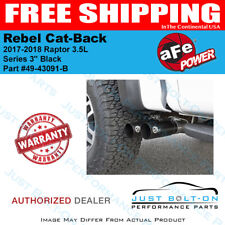"aFe Rebel Series 3"" 409 Cat-Back Black for 2017-2019 Raptor 3.5L #49-43091-B"