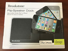 NIB Brookstone Flip Speaker Doc for iPod or iPhone