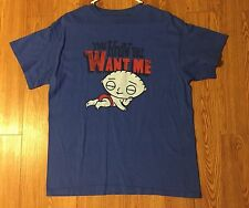 FAMILY GUY STEWIE YOU KNOW YOU WANT ME T SHIRT SIZE LARGE L!!