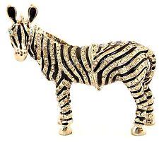 Ciel Collectabels Zebra Trinket Box  Swarovski Crystal Hand Painted Enamel
