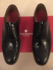 Grenson - Luther Black Brogue 7.5 Mens New. RRP £220