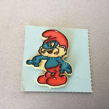 Vintage 1980 # SMURFS Official Peyo Pin Pins Spilla Plastica GRAND  SCHTROUMPF