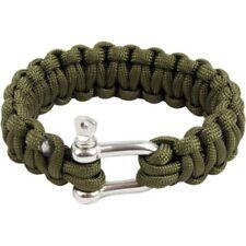 Bracelet paracorde Highlander Paracord D-Ring vert à boucle métal