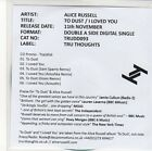 (EQ458) Alice Russell, To Dust / I Loved You [EP] - 2013 DJ CD