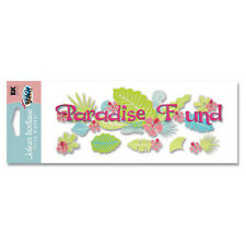 Paradise Found Tropical Hawaii Caribbean Habiscus Flowers  Jolee's 3D Stickers