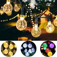 Outdoor Solar 30 LED String Light Waterproof Garden Path Yard Xmas Bulbs Lamp