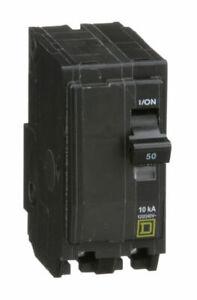 Square D QO250 2-Pole 50-Amp 120/240V Plug-In Circuit Breaker