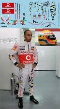 1/18 Decals Lewis  Hamilton F1 Helmet Figure driver 2011 TB Decal TBD574