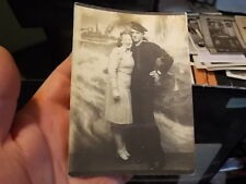 VINT ARCADE STUDIO PHOTO, SAILOR ON LEAVE WITH HIS GAL