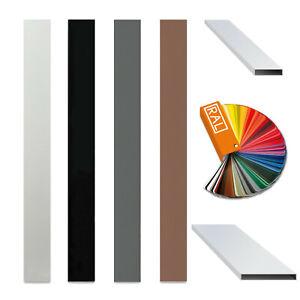 Aluminium profile board square rectangular pipe tube powder coated 100x20 RAL