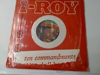 I-Roy-Ten Commandments Colored Vinyl LP 1980 ROOTS REGGAE