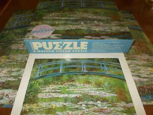 """Challenging Claude Monet """"The Japanese Footbridge"""" Museum Jigsaw Puzzle 500 PCS"""