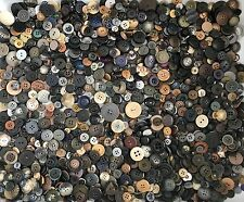 2.25+ lbs Black Grey Brown Buttons Assorted Vintage Antique Collect Crafts Sew E