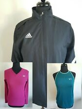 Womens Mix Lot Under Armour/Adidas Athletic Top & Shorts Size L