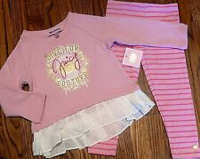 JUICY COUTURE BABY/KIDS GIRLS BRAND NEW 2Pc DRESS LEGGING SET Size 3-6M, NWT