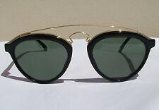 New Vintage B&L Ray Ban Gatsby Style 8 W1530 Black Strawberry Shape Sunglasses