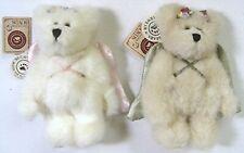 Set of 2 Boyds Bear Angel Ornaments - Astoria & Adriana Angelwish w/ Tags 2001