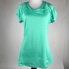 prAna Breathe Womens Green Cap Sleeve Athletic Fitness Shirt Top sz. Small