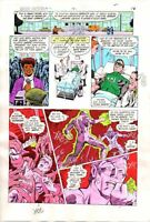 Original 1984 Green Lantern 176 DC Comics color guide art page 16: Dave Gibbons