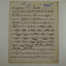 Rossini OTELLO Ouverture Viola parte, antico manoscritto di musica