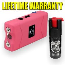 Vipertek 75 Billion Volt Rechargeable Stun Gun LED Light FREE Pepper Spray