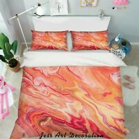 3D Orange Ripple Quilt Cover Duvet Cover Comforter Cover Single 96