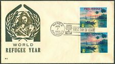 1960 Philippines COMMEMORATING THE WORLD REFUGEE YEAR First Day Cover - C