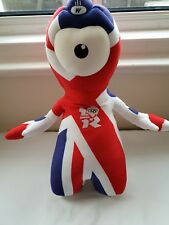 """Official London 2012 Wenlock Large Union Jack Plush Approx 18"""""""