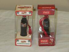 "COCA COLA MINI BOTTLE 3"" TALL 2002,2003 CHRISTMAS BOTTLES"