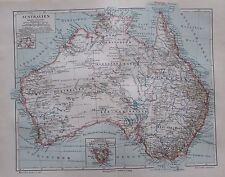Australien alte historische Landkarte aus 1893 Karte Lithographie old map