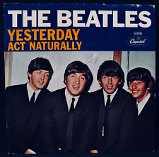 THE BEATLES-Yesterday & Act Naturally-Picture Sleeve-CAPITOL #5498-A Top Copy!
