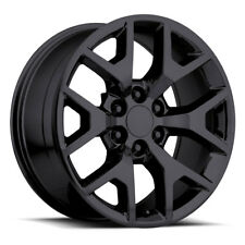 "Set (4) 22"" 744 Gloss Black GMC 1500 Sierra Denali Tahoe  Silverado Wheels Rims"